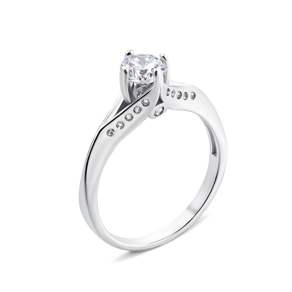 Серебряное кольцо с фианитами (1RI57302-R)
