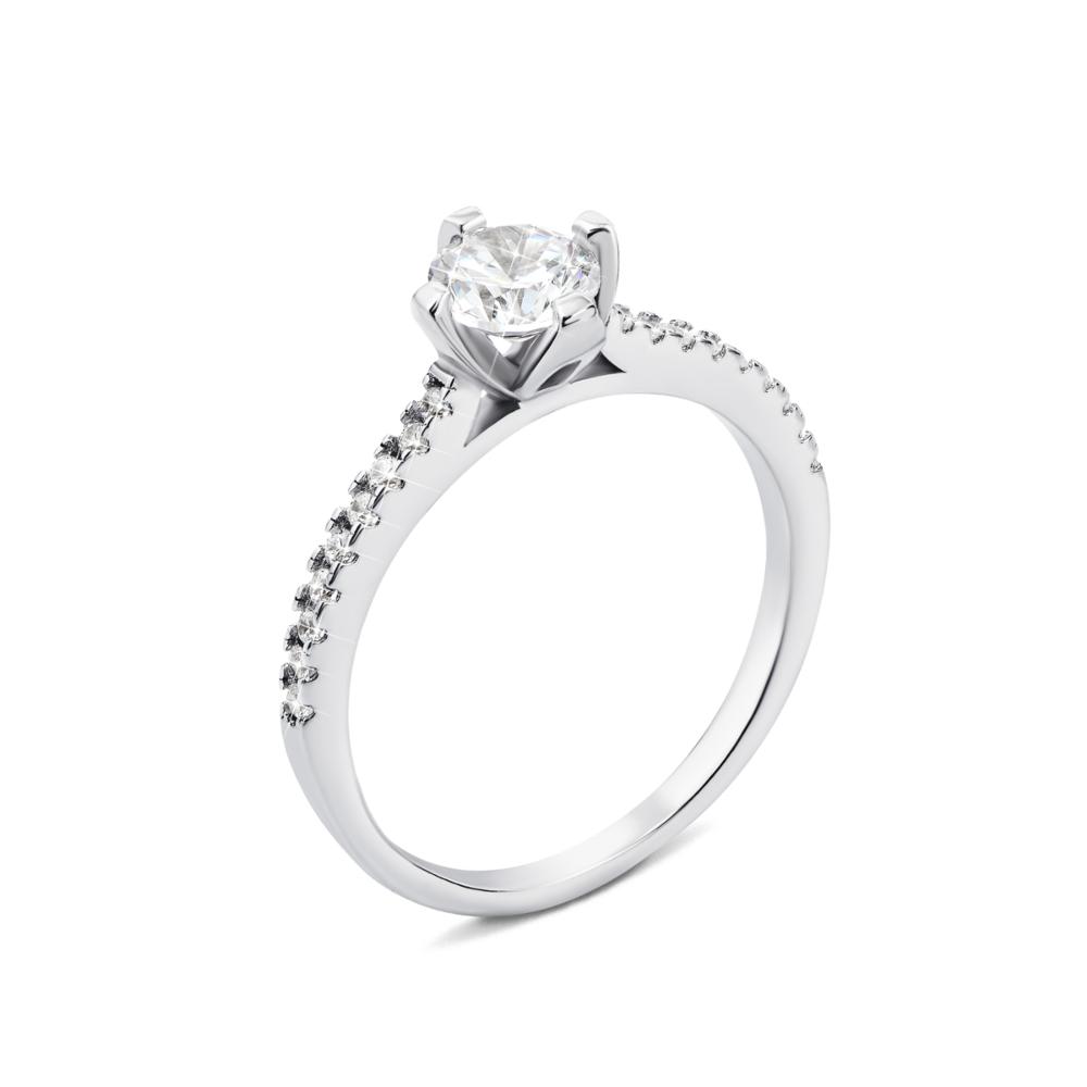 Серебряное кольцо с фианитами (1RI57661-R)