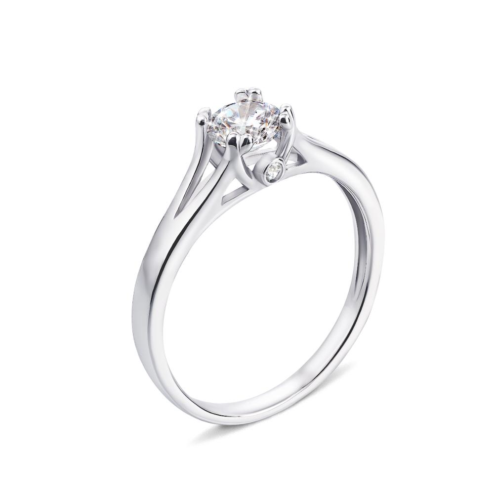 Серебряное кольцо с фианитами (1RI58227-R)