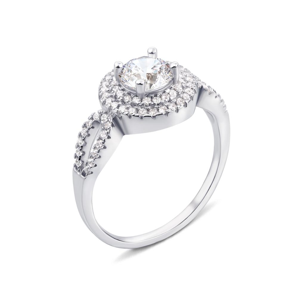 Серебряное кольцо с фианитами (1RI58497-R)