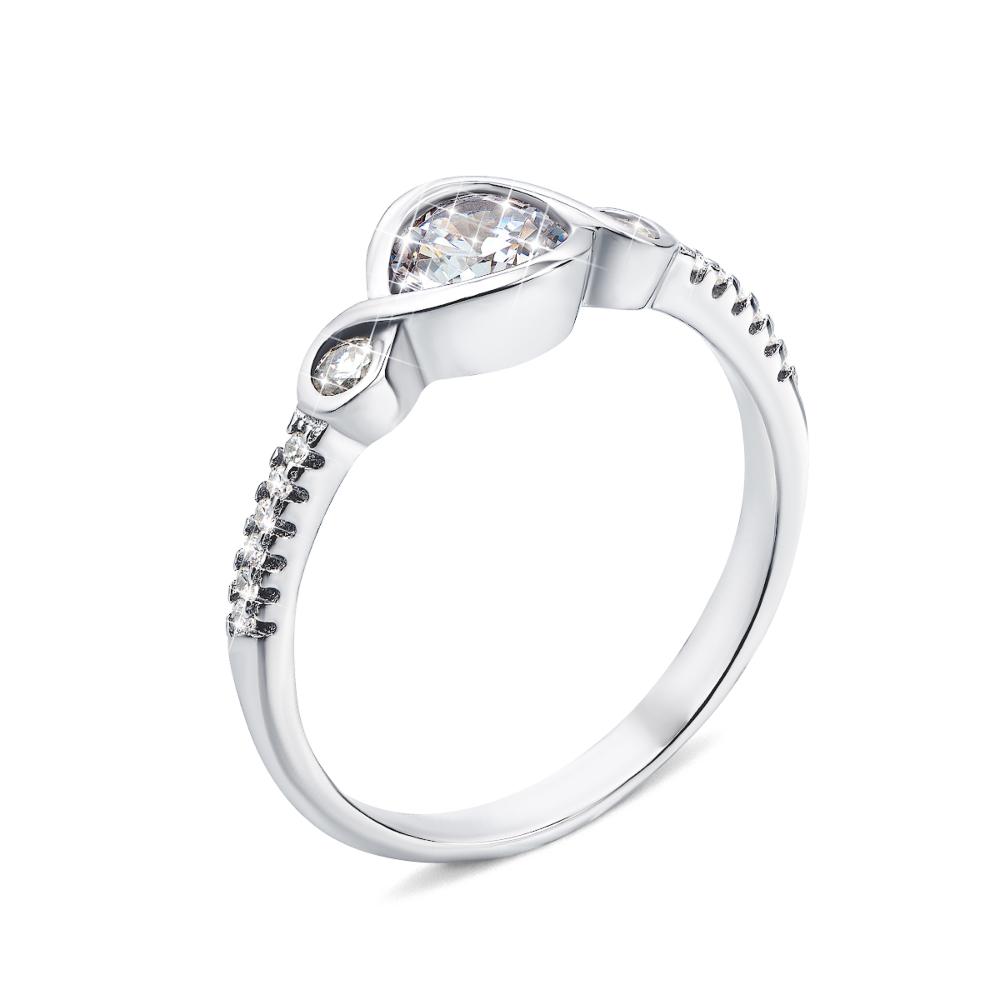 Серебряное кольцо с фианитами (1RI58589-R)