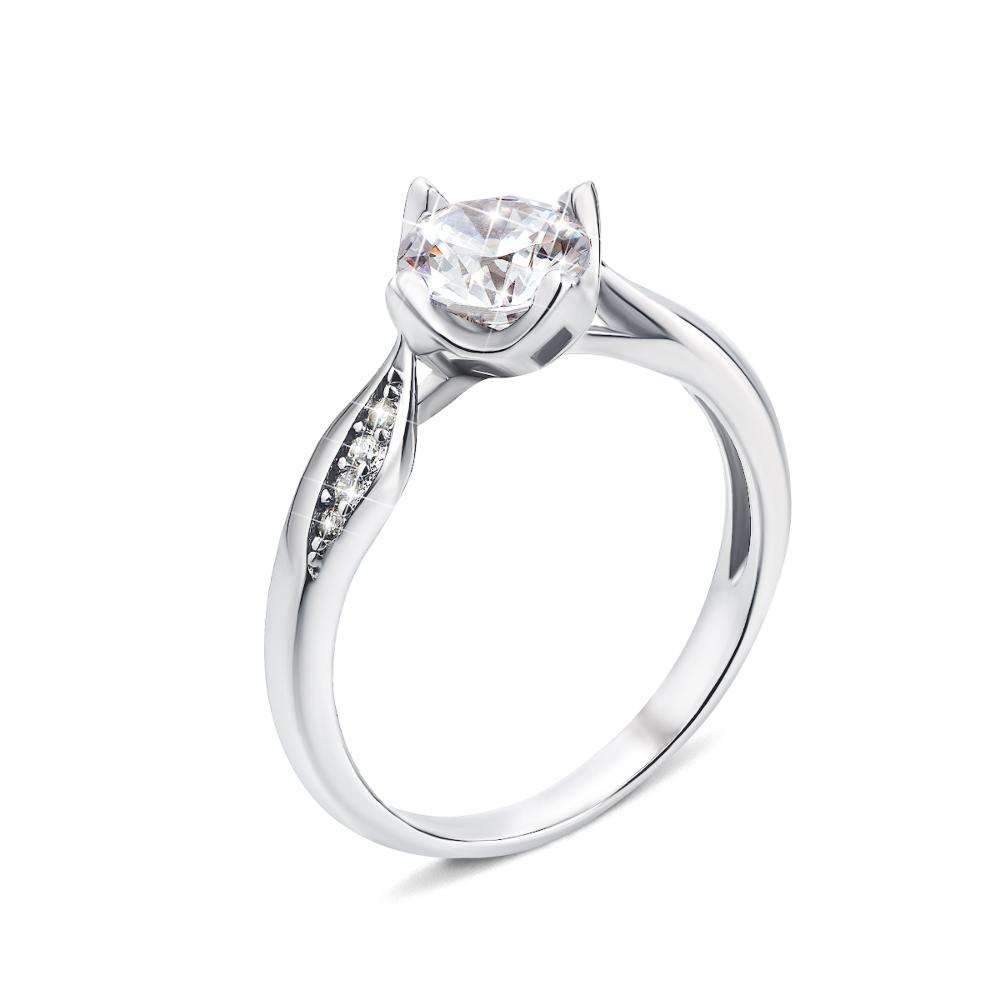 Серебряное кольцо с фианитами (1RI58719-R/12/1)