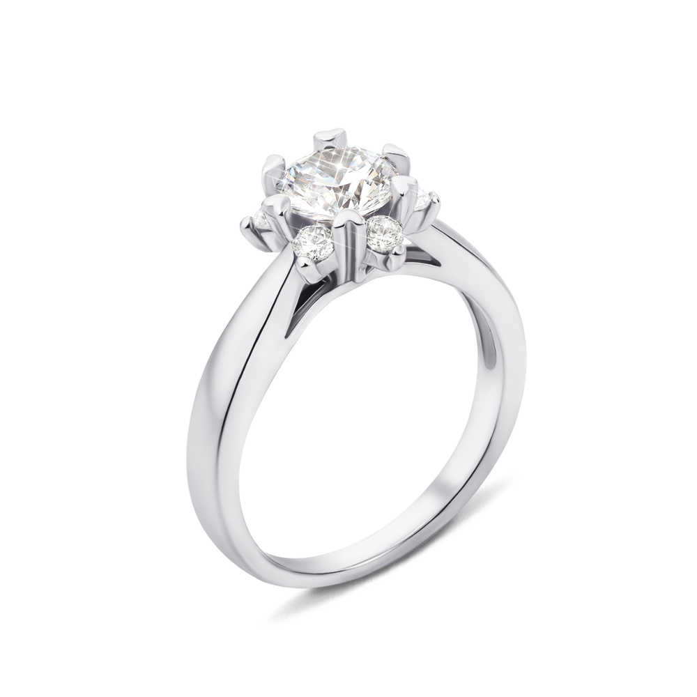 Серебряное кольцо с фианитами (1RI59146-R/12/1)