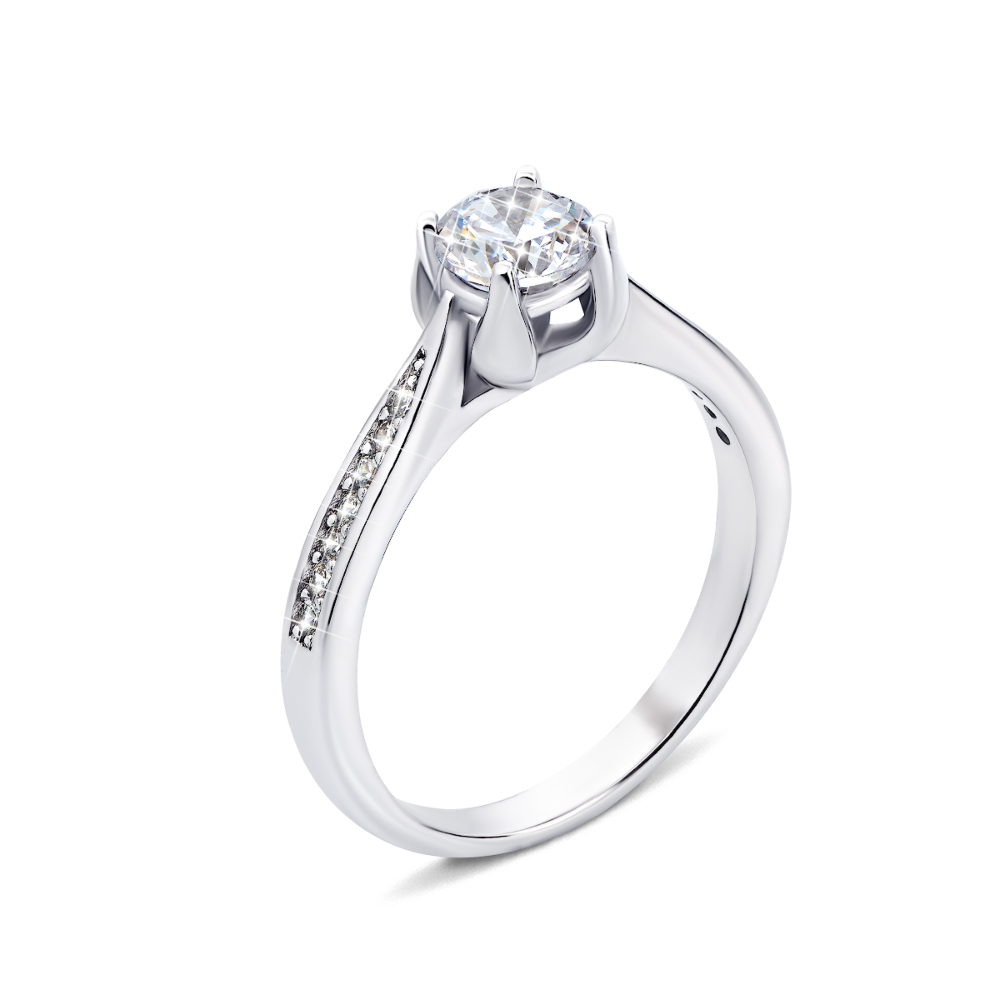 Серебряное кольцо с фианитами (1RI59910-R)