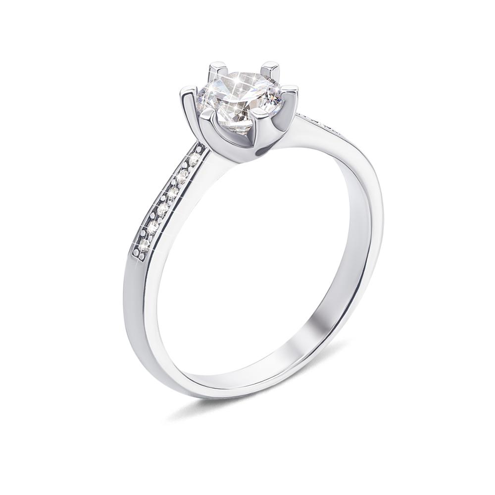 Серебряное кольцо с фианитами (1RI62389-R/12/1)