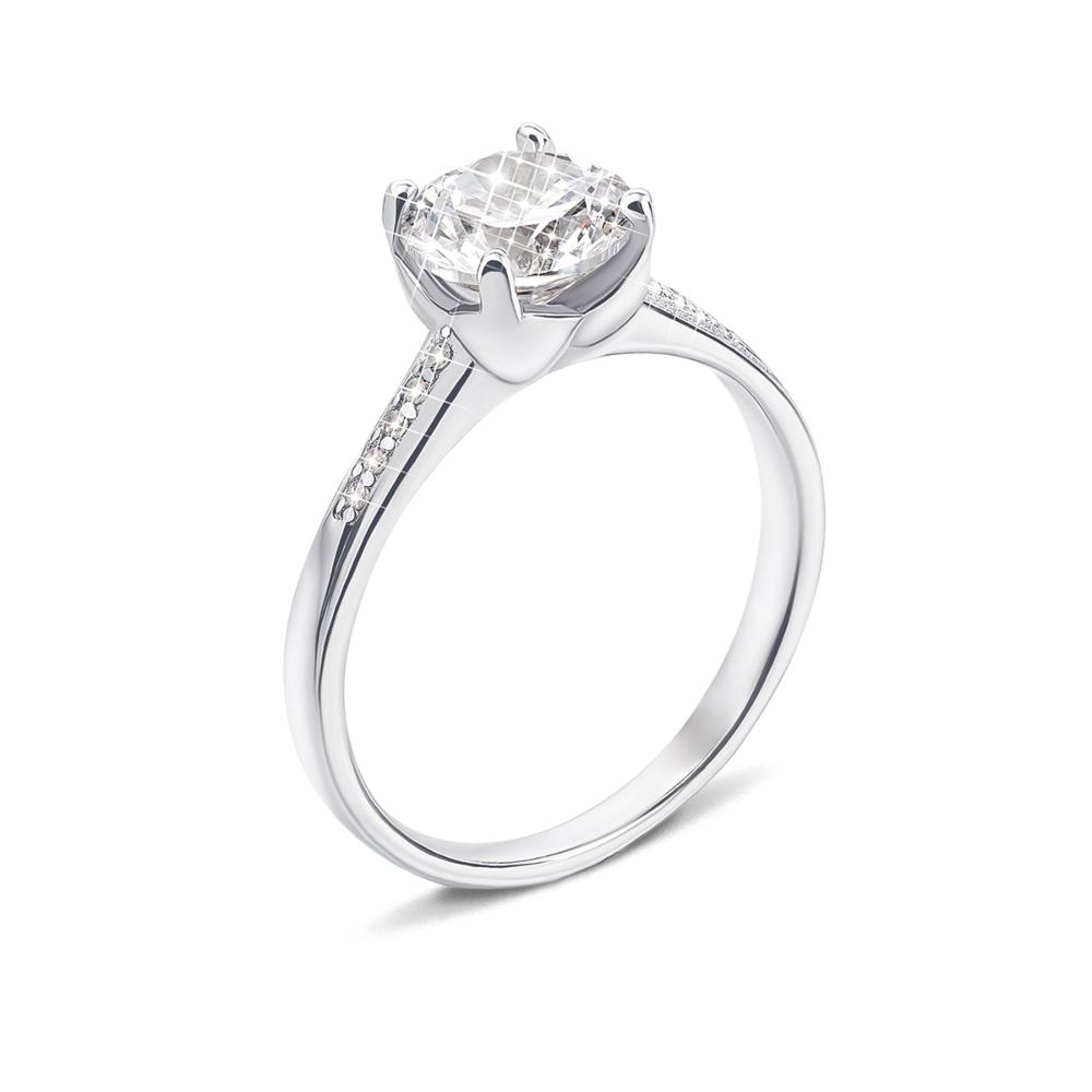 Серебряное кольцо с фианитами (1RI62420-R)