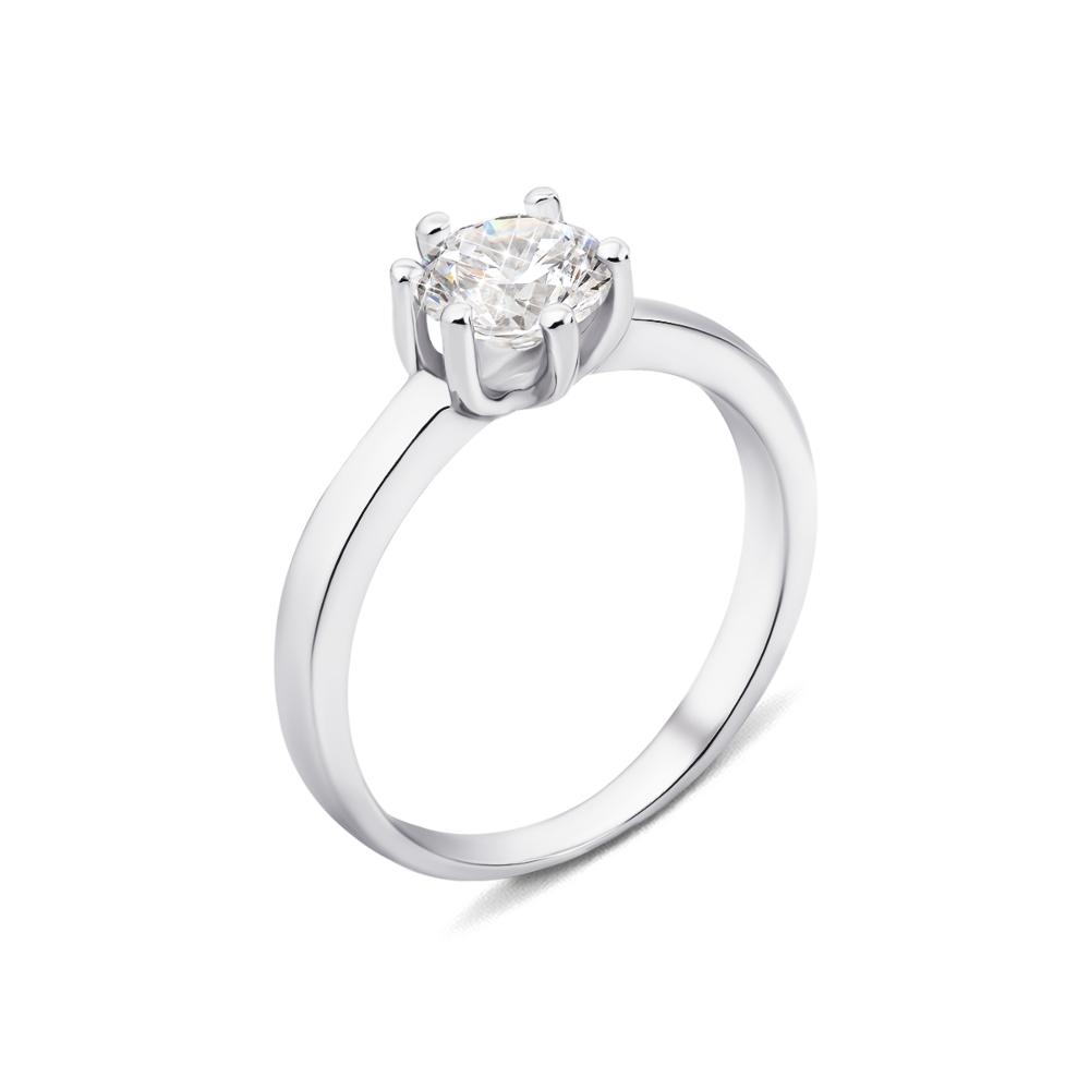 Серебряное кольцо с фианитом (1RI59720/10-R)