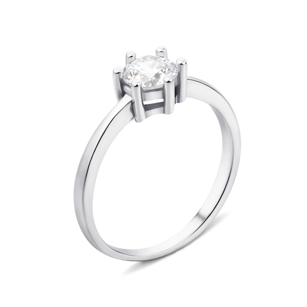 Серебряное кольцо с фианитом (1RI59720/13-R)