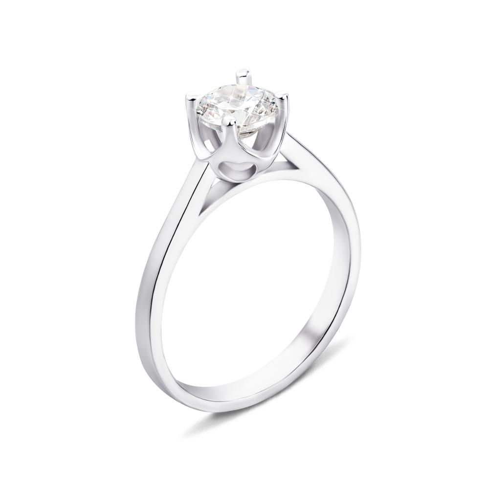 Серебряное кольцо с фианитом (1RI59720/2-R)