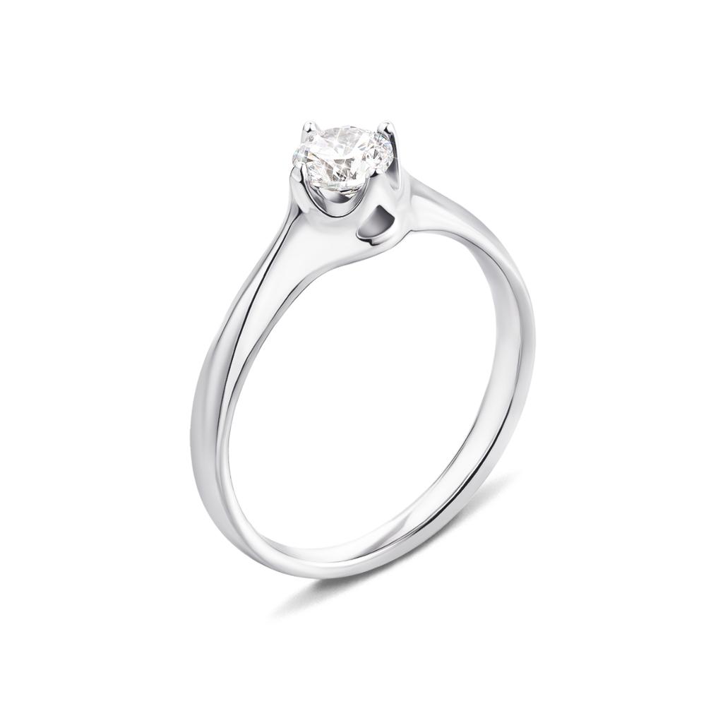 Серебряное кольцо с фианитом (1RI67777/1-R)