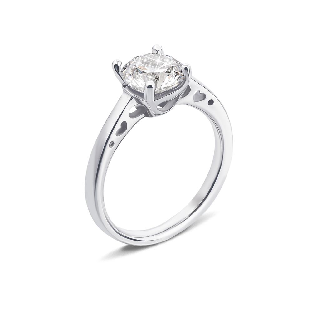 Серебряное кольцо с фианитом (1RI67777/13-R)
