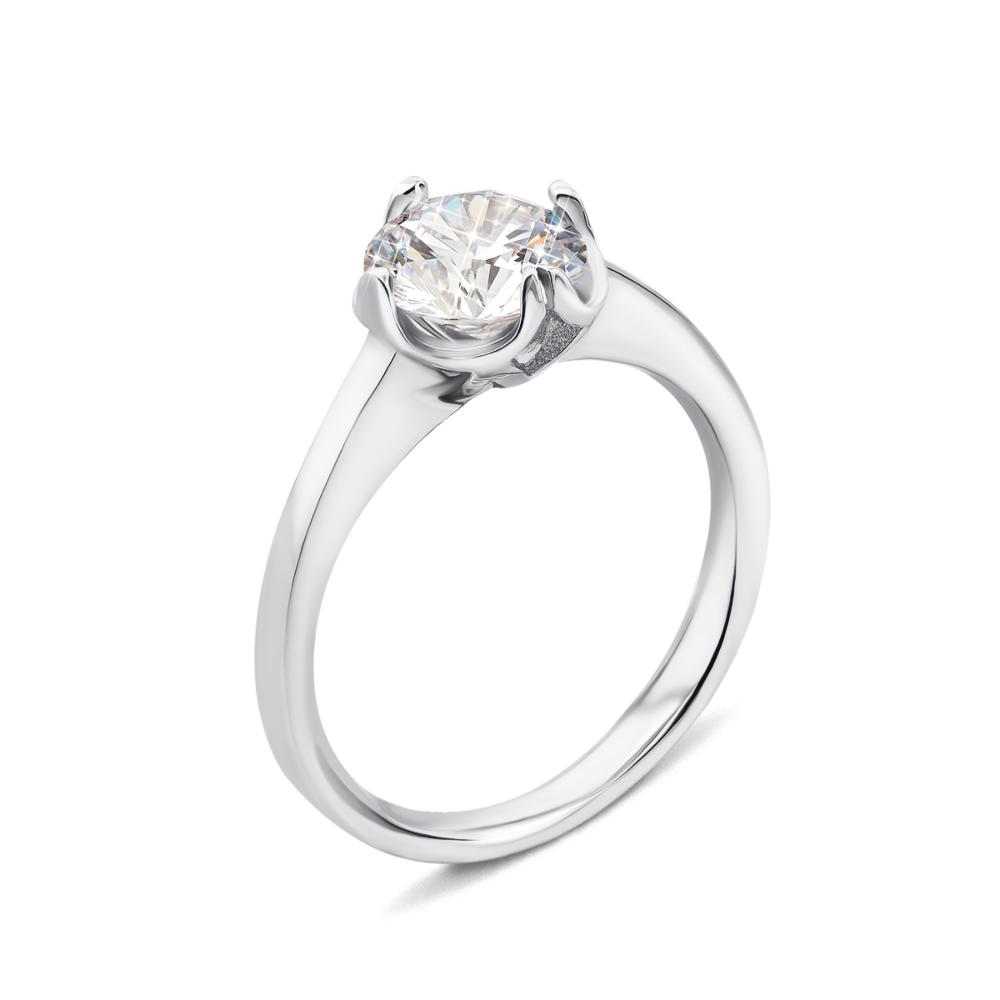 Серебряное кольцо с фианитом (1RI67777/2-R)