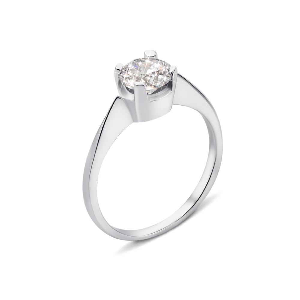 Серебряное кольцо с фианитом (1RI67777/22-R)