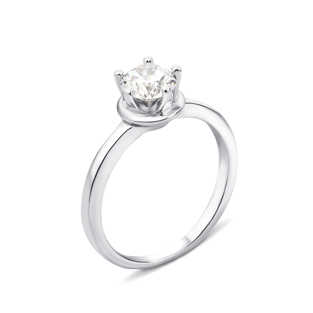 Серебряное кольцо с фианитом (1RI67777/3-R)