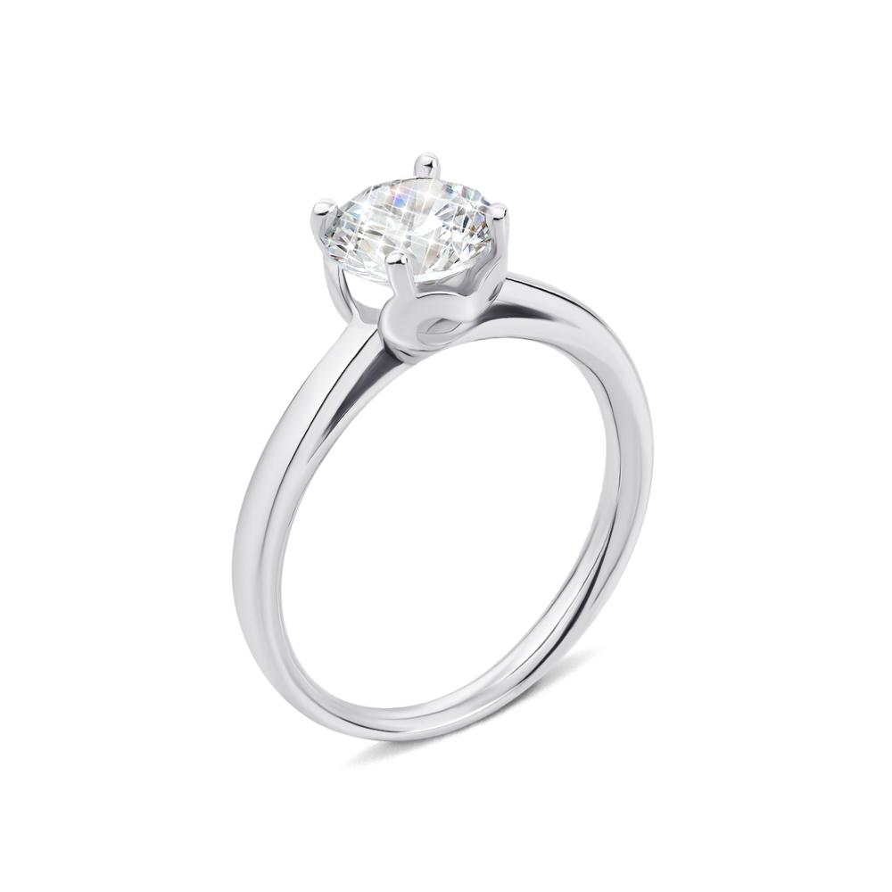 Серебряное кольцо с фианитом (1RI67777/4-R)