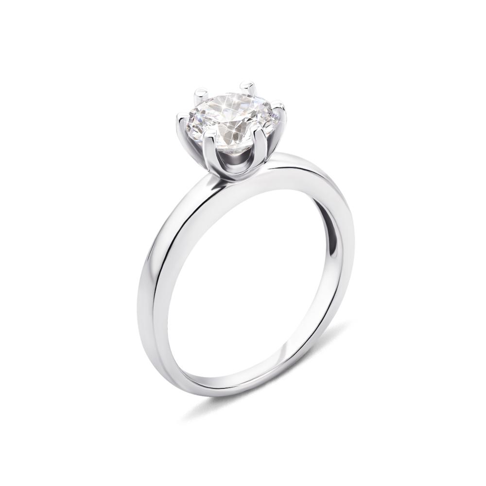 Серебряное кольцо с фианитом (1RI67777-R)