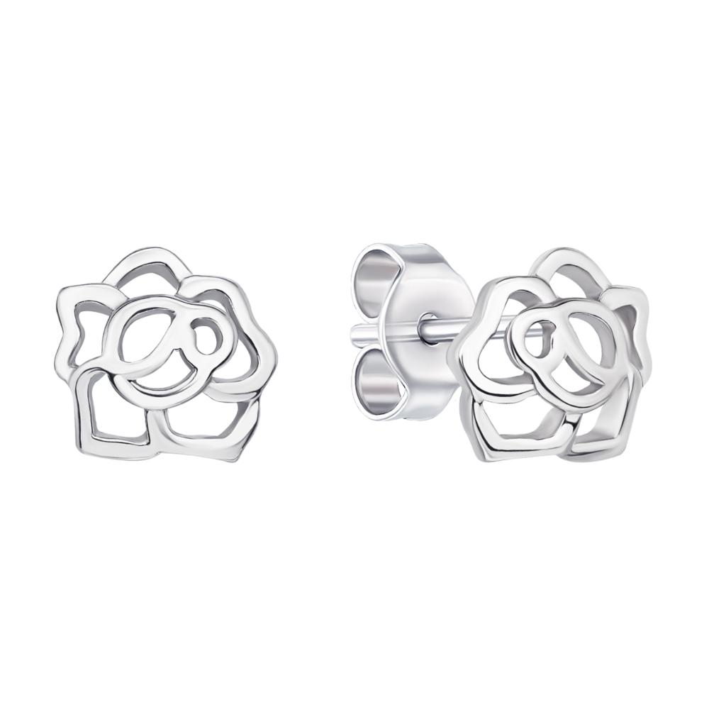 Срібні пусети Квіти (1EA82952-E)