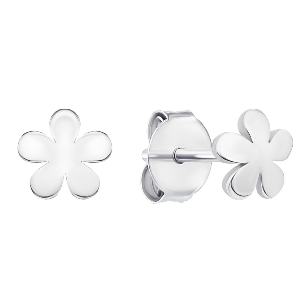 Срібні пусети Квіти (1EA82961-E/12)