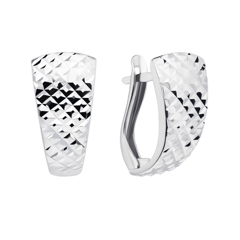 Серебряные серьги с алмазной гранью (02901-2/12/3)