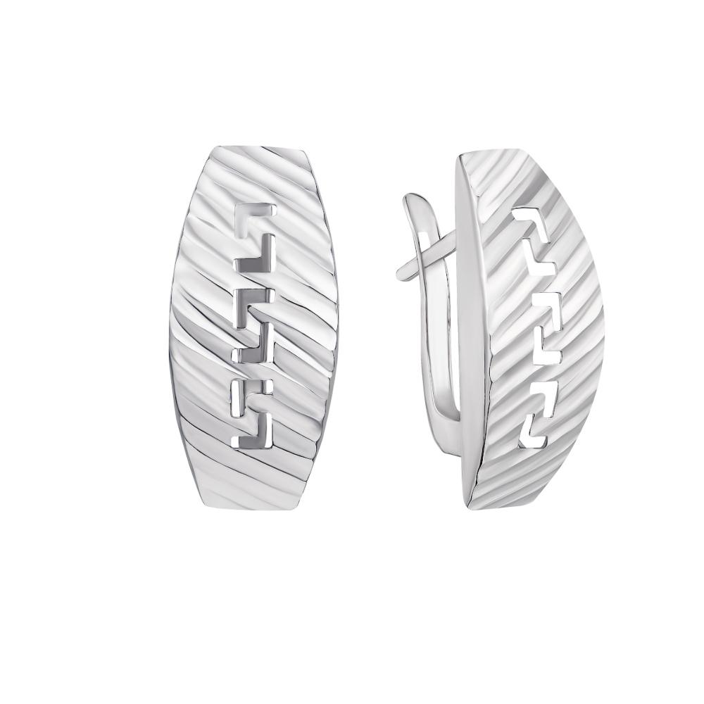 Серебряные серьги с алмазной гранью (02913-1/12/3)