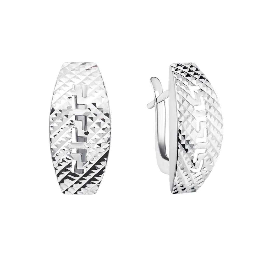 Серебряные серьги с алмазной гранью (02913-2/12/3 (с02913/б)