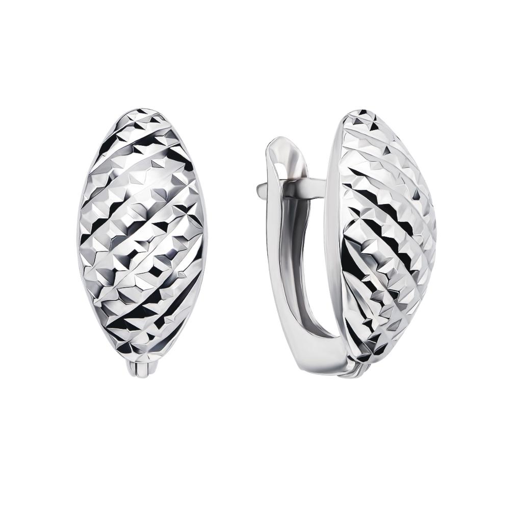 Срібні сережки з алмазною гранню (02914-2/12/3)