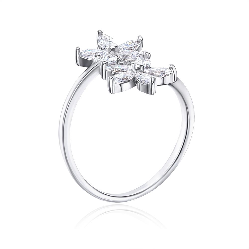Срібна каблучка з фіанітами. Артикул 1RI62666-R/12/1