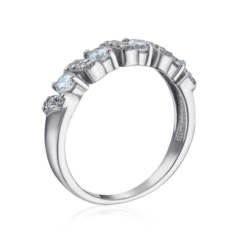 Срібна каблучка з фіанітами Tesori Zirconia. Артикул 00937/12/1/4032