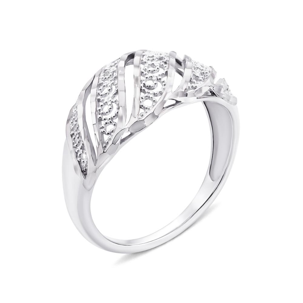 Золотое кольцо с алмазной гранью (12682/02/3 (12682/б)