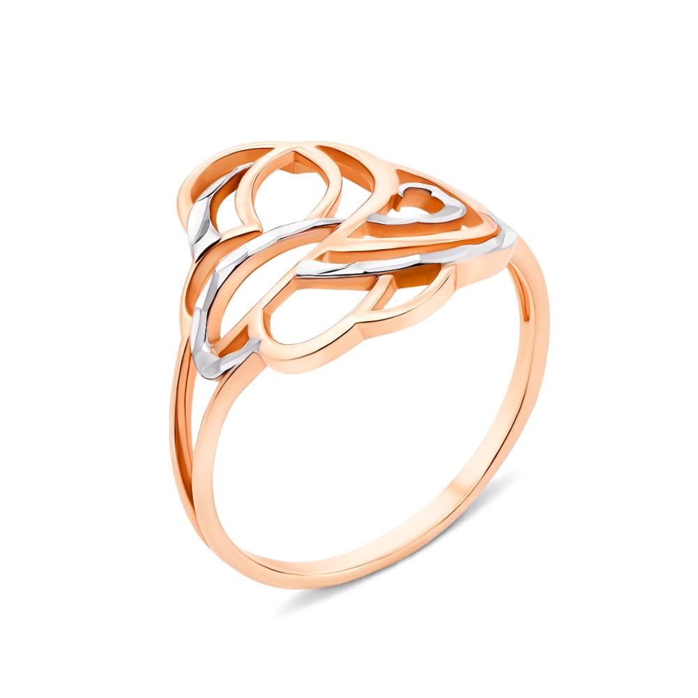 Золота каблучка з алмазною гранню (13088)