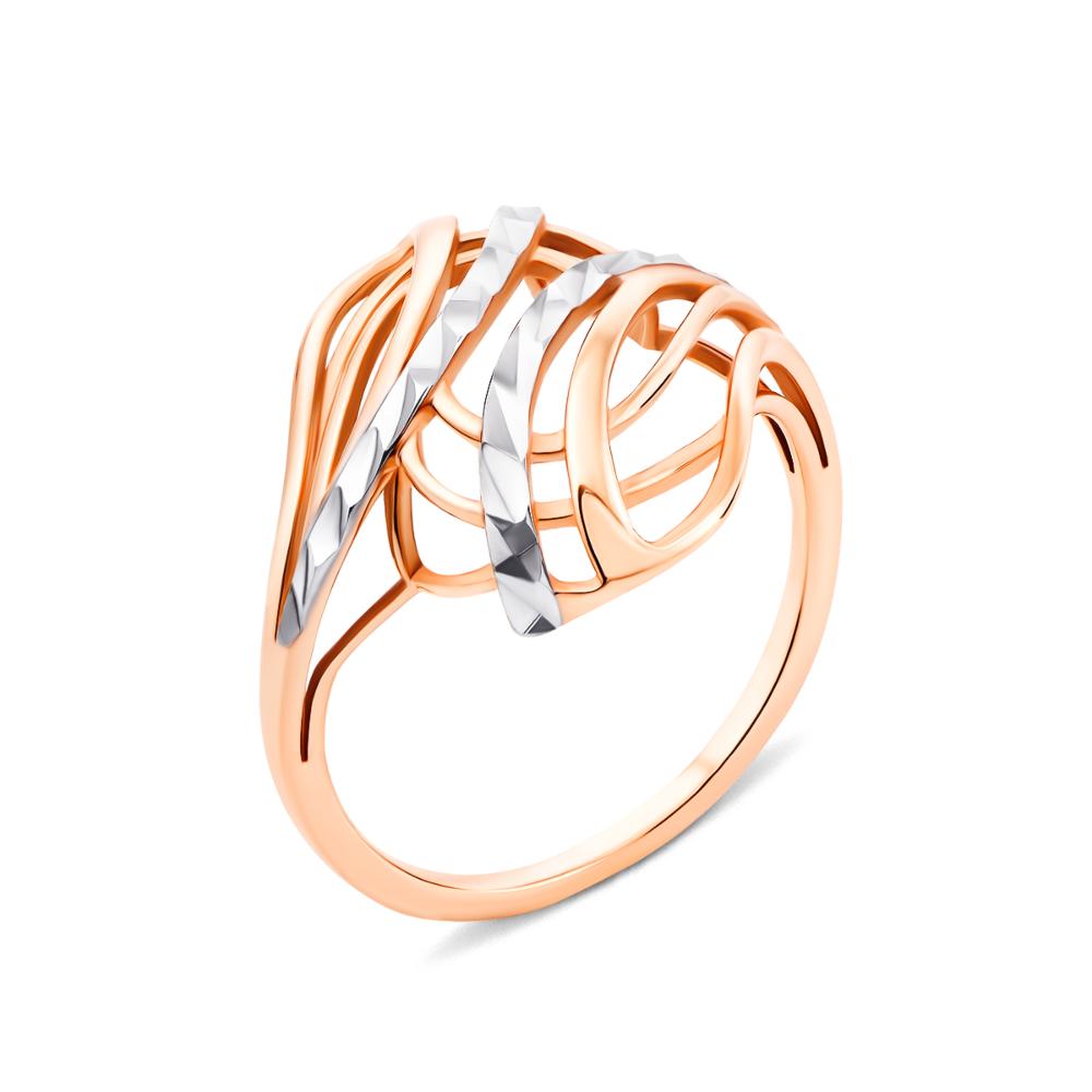 Золота каблучка з алмазною гранню (13090)