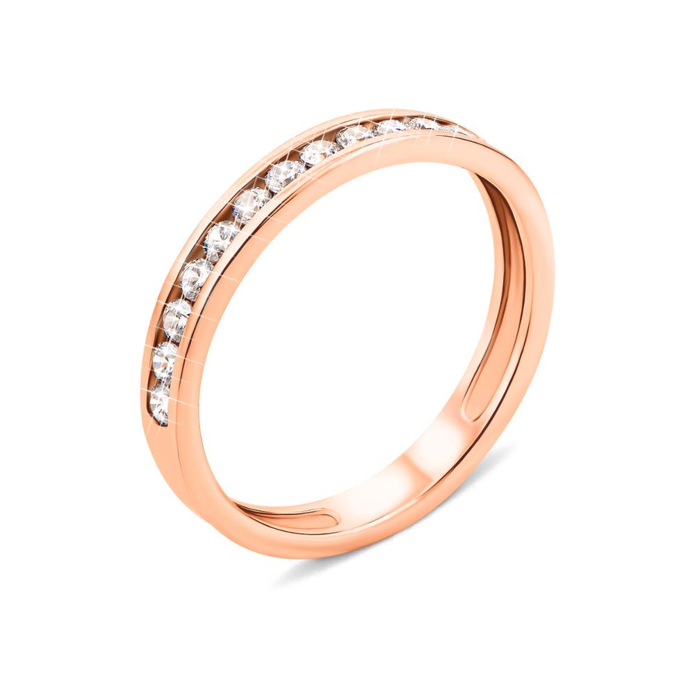 Золотое кольцо с фианитами (11905)