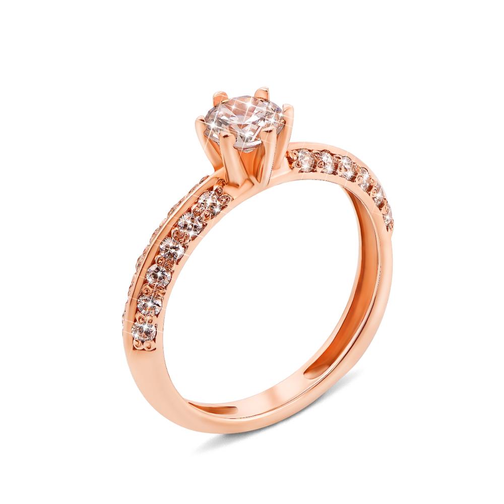Золотое кольцо с фианитами (11933)