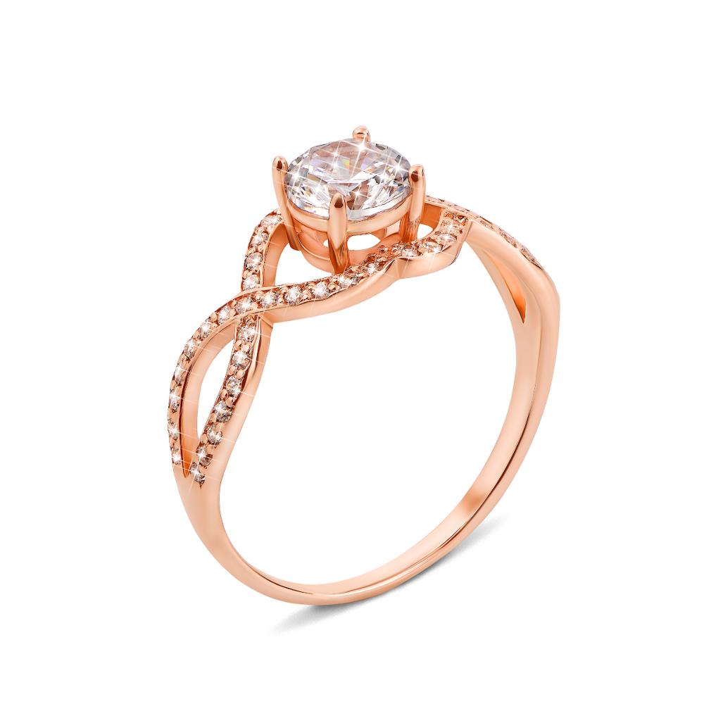 Золотое кольцо с фианитами (11940)