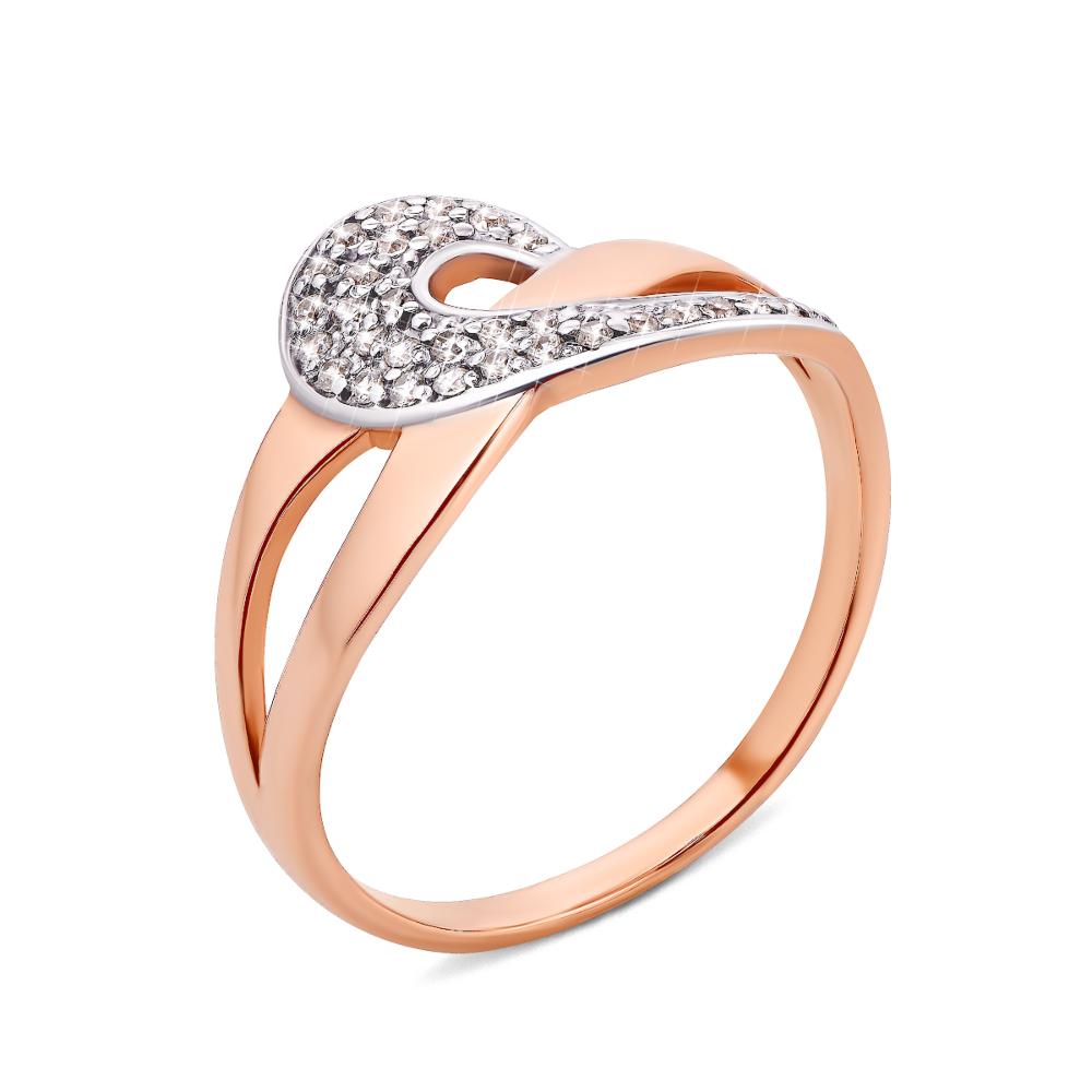Золотое кольцо с фианитами (12004)