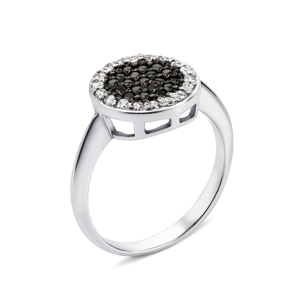 Золотое кольцо с фианитами (12017/02/1/146 (12017/б ч сп)