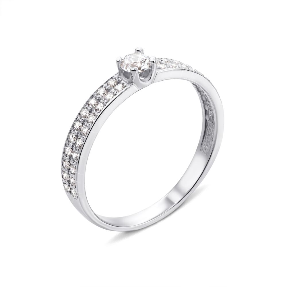 Золотое кольцо с фианитами (12248/02/1/140 (12248/б с)