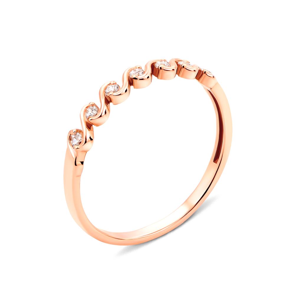 Золотое кольцо с фианитами (12710)