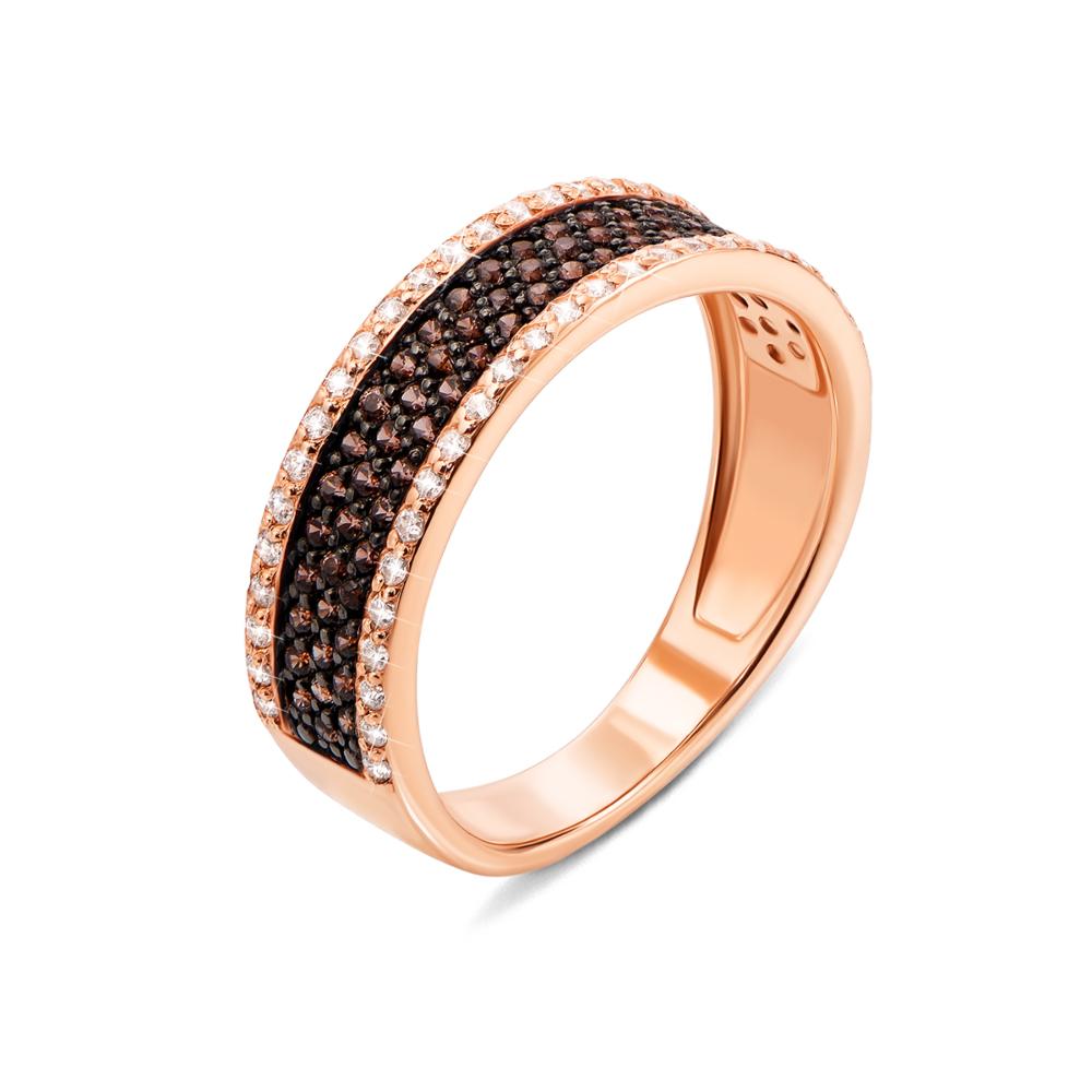 Золотое кольцо с фианитами (13110/01/1/173)