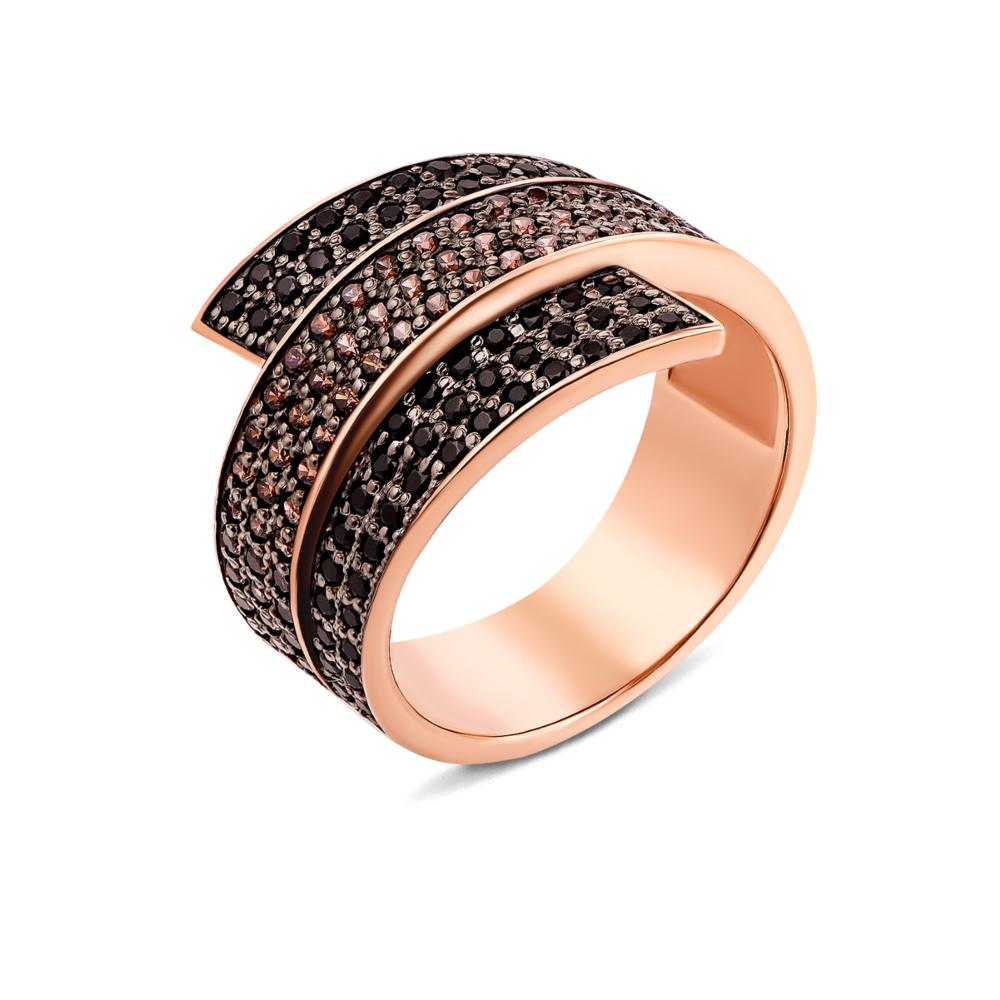 Золотое кольцо с фианитами (13174/01/1/818)