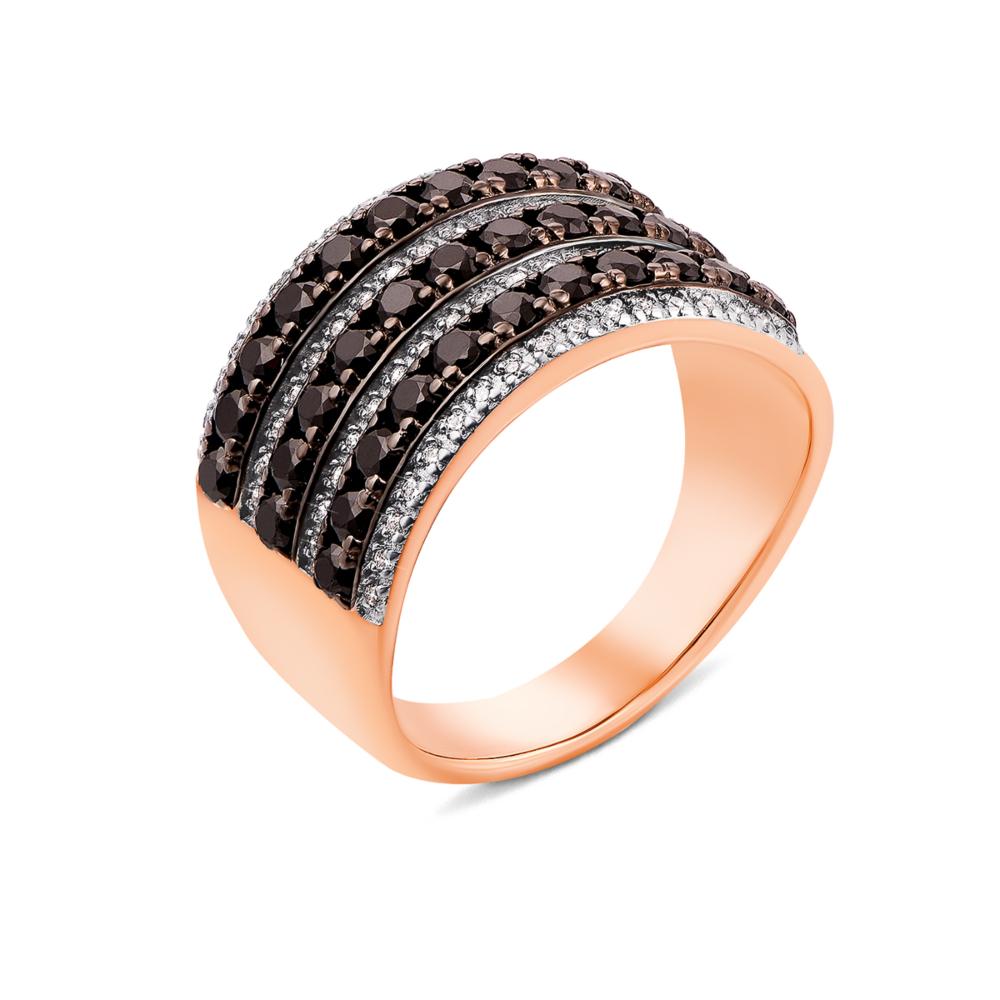 Золотое кольцо с фианитами (13176/01/1/822)