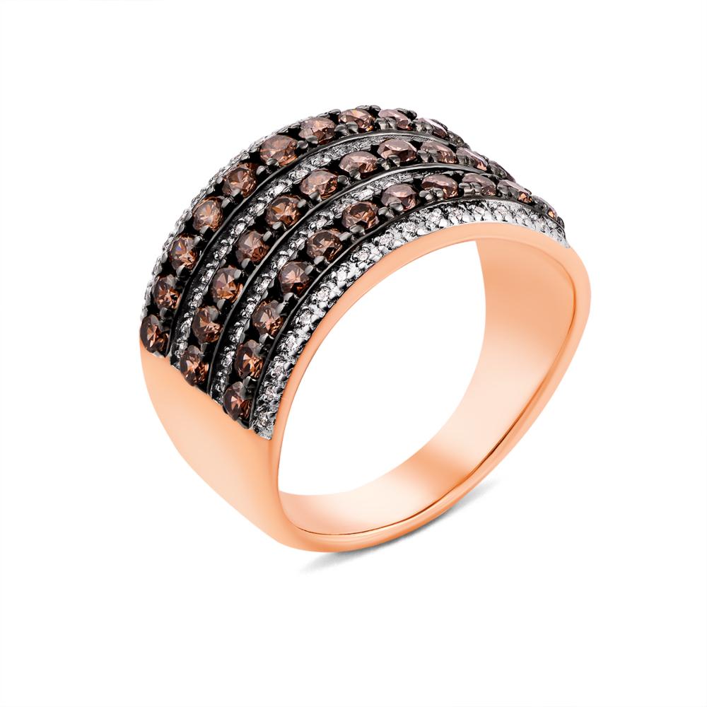 Золотое кольцо с фианитами (13176/01/1/875)