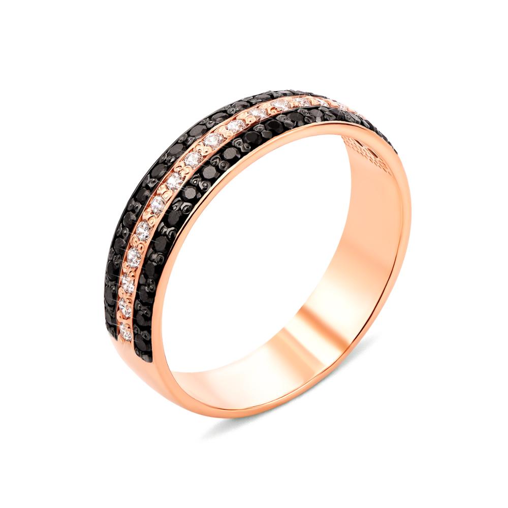Золотое кольцо с фианитами (13180/01/1/146)