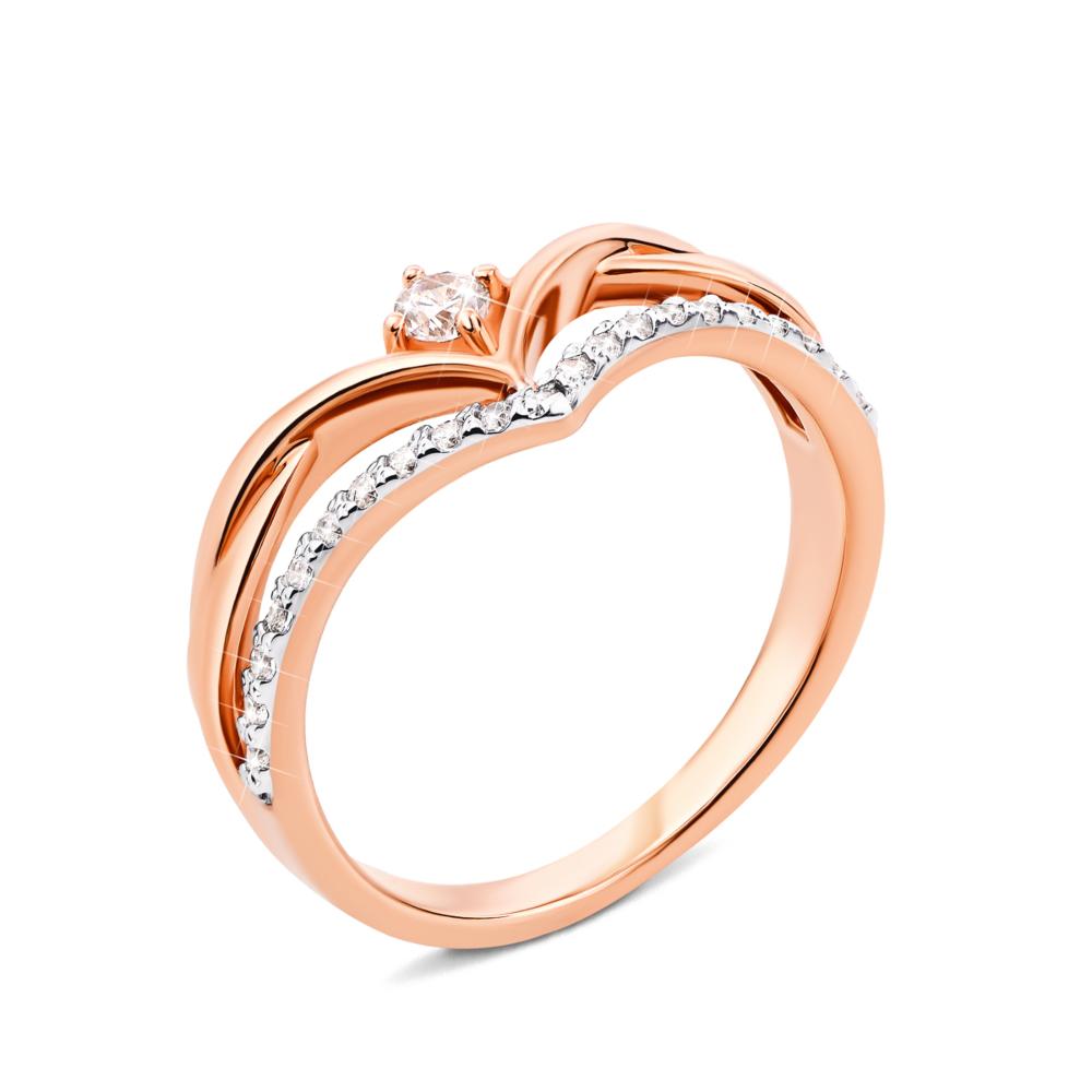 Золотое кольцо с фианитами (13181/01/1/47)