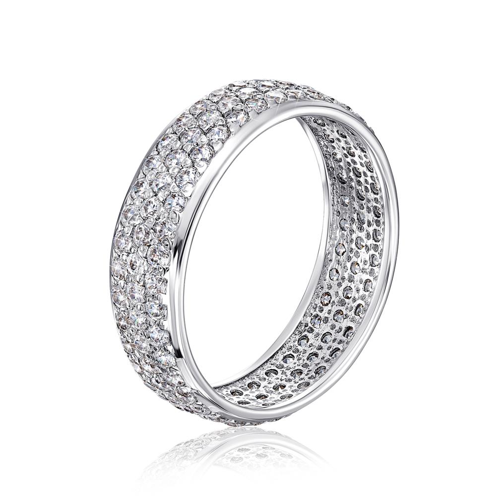 Золотое кольцо с фианитами. Артикул 11859/б