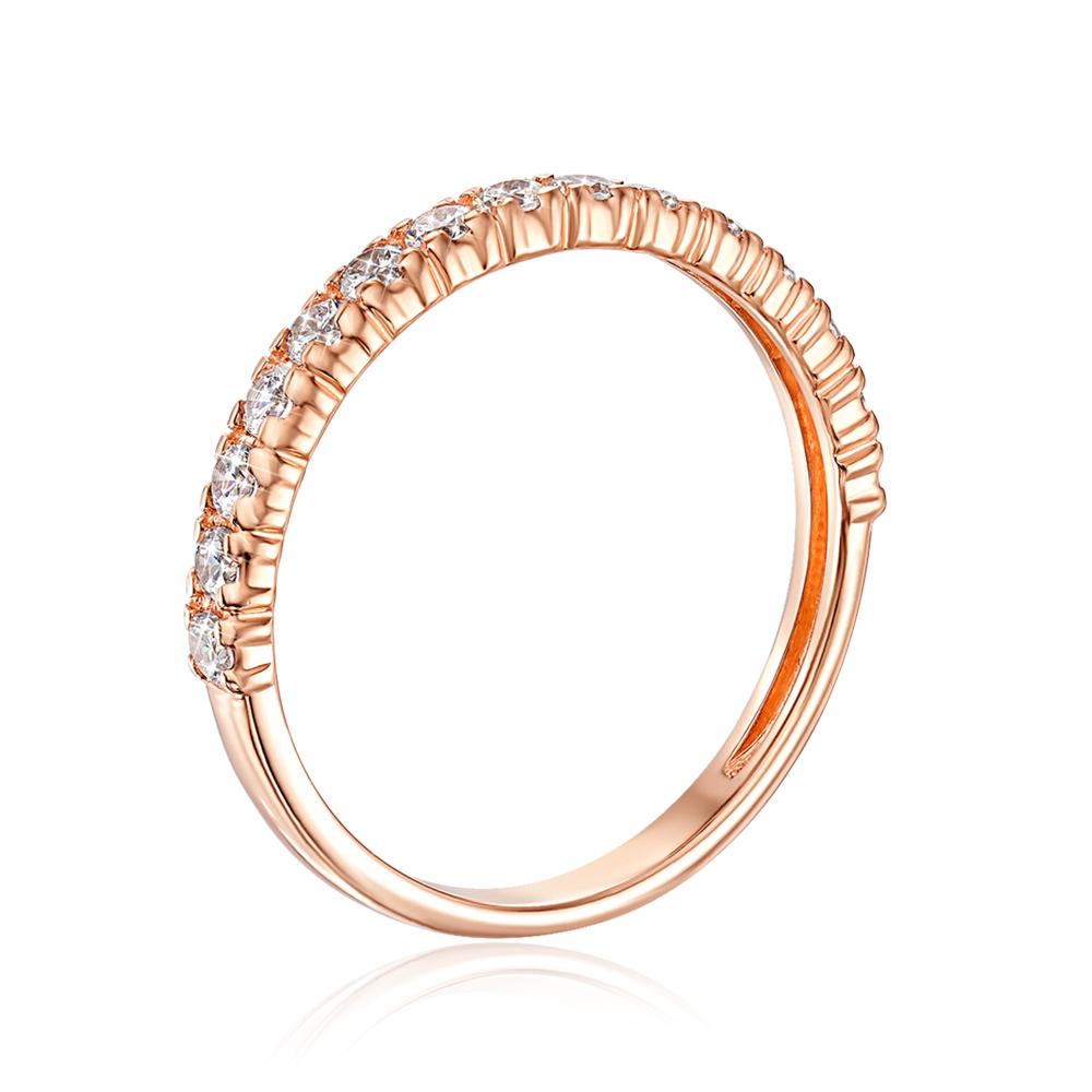 Золотое кольцо с фианитами. Артикул 13346/01/0/46