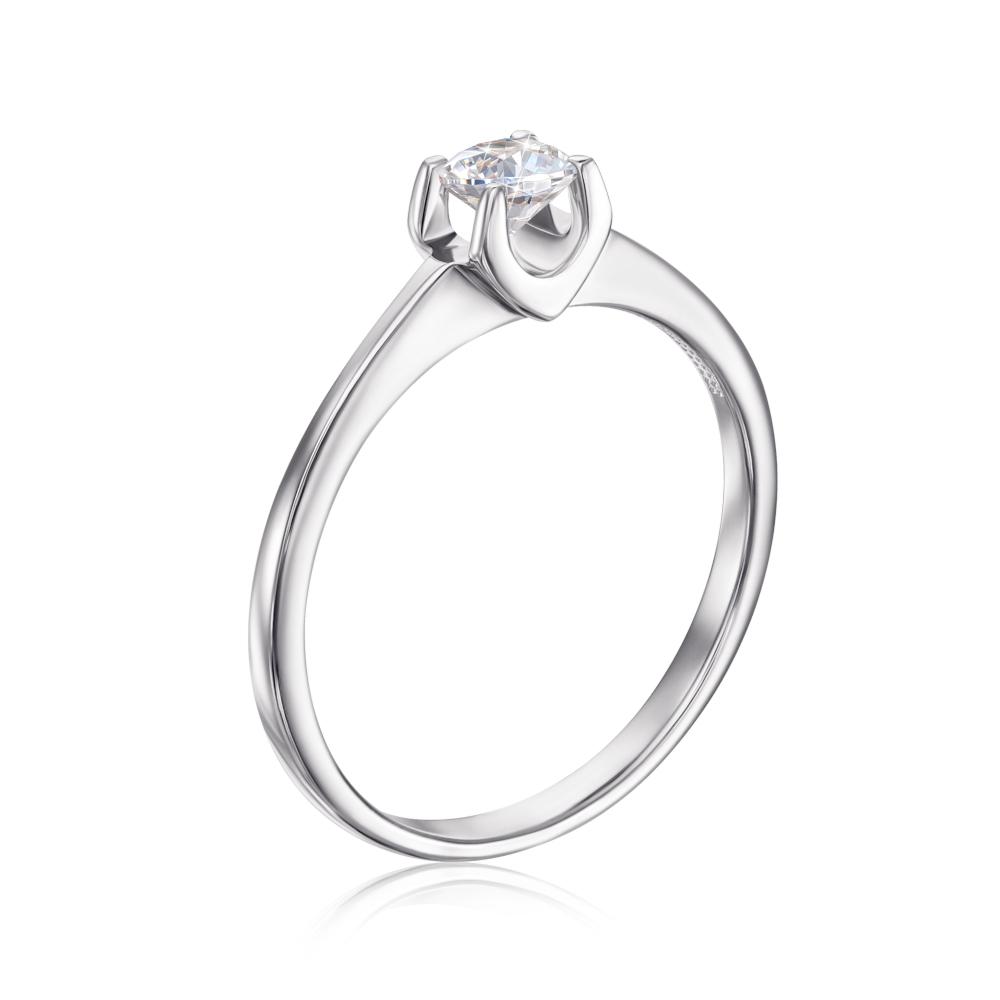 Золотое кольцо с фианитом Swarovski Zirconia (12113/б SW)