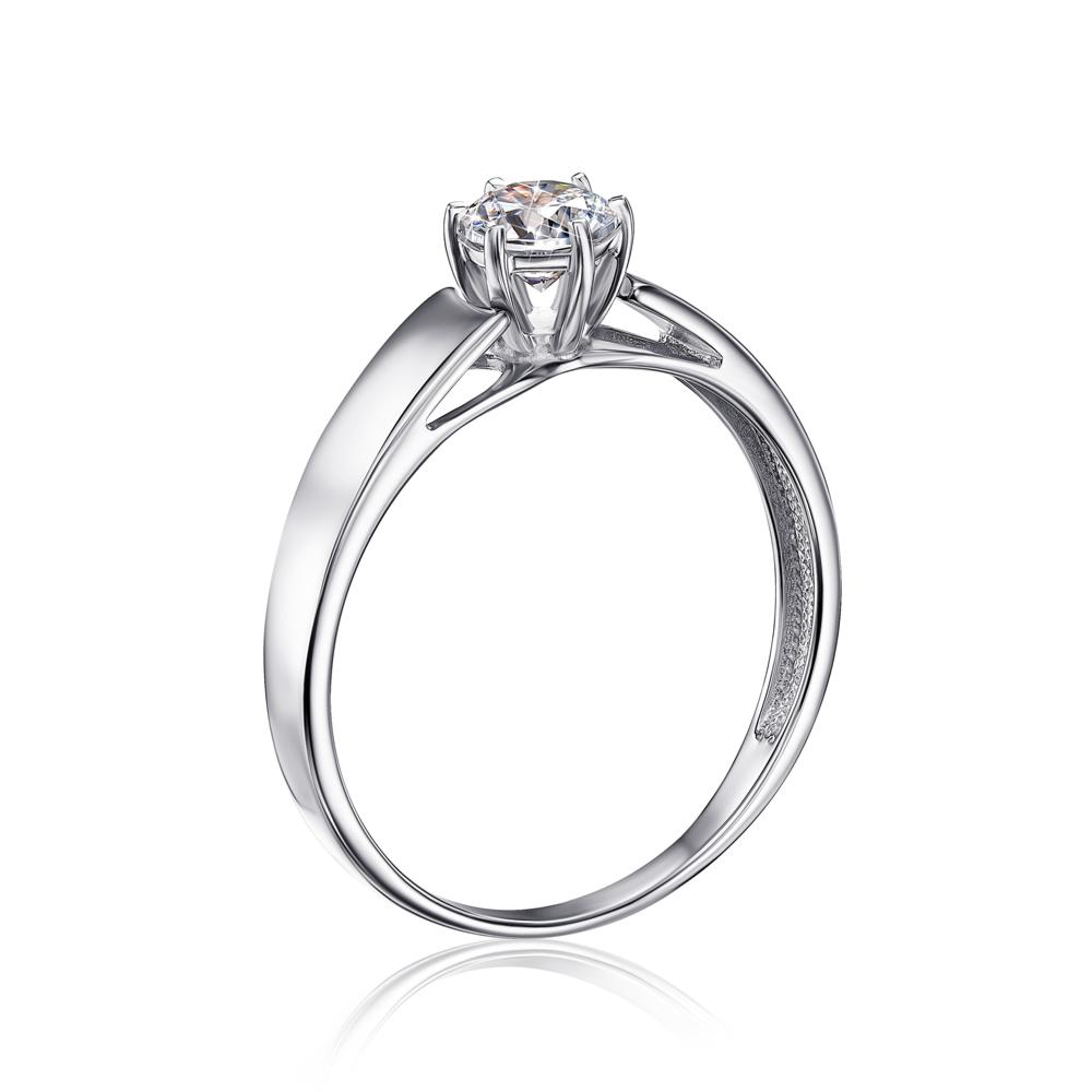Золотое кольцо с фианитом Swarovski Zirconia. Артикул 12156/б SW