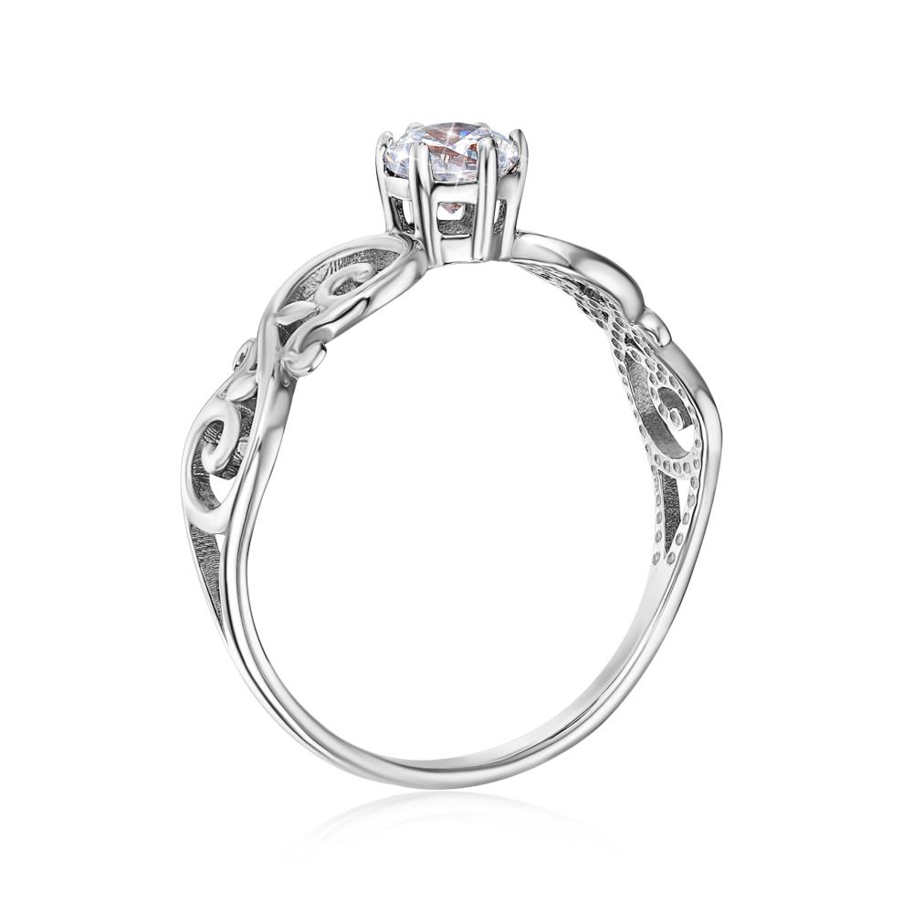 Золотое кольцо с фианитом Swarovski Zirconia. Артикул 12236/б SW
