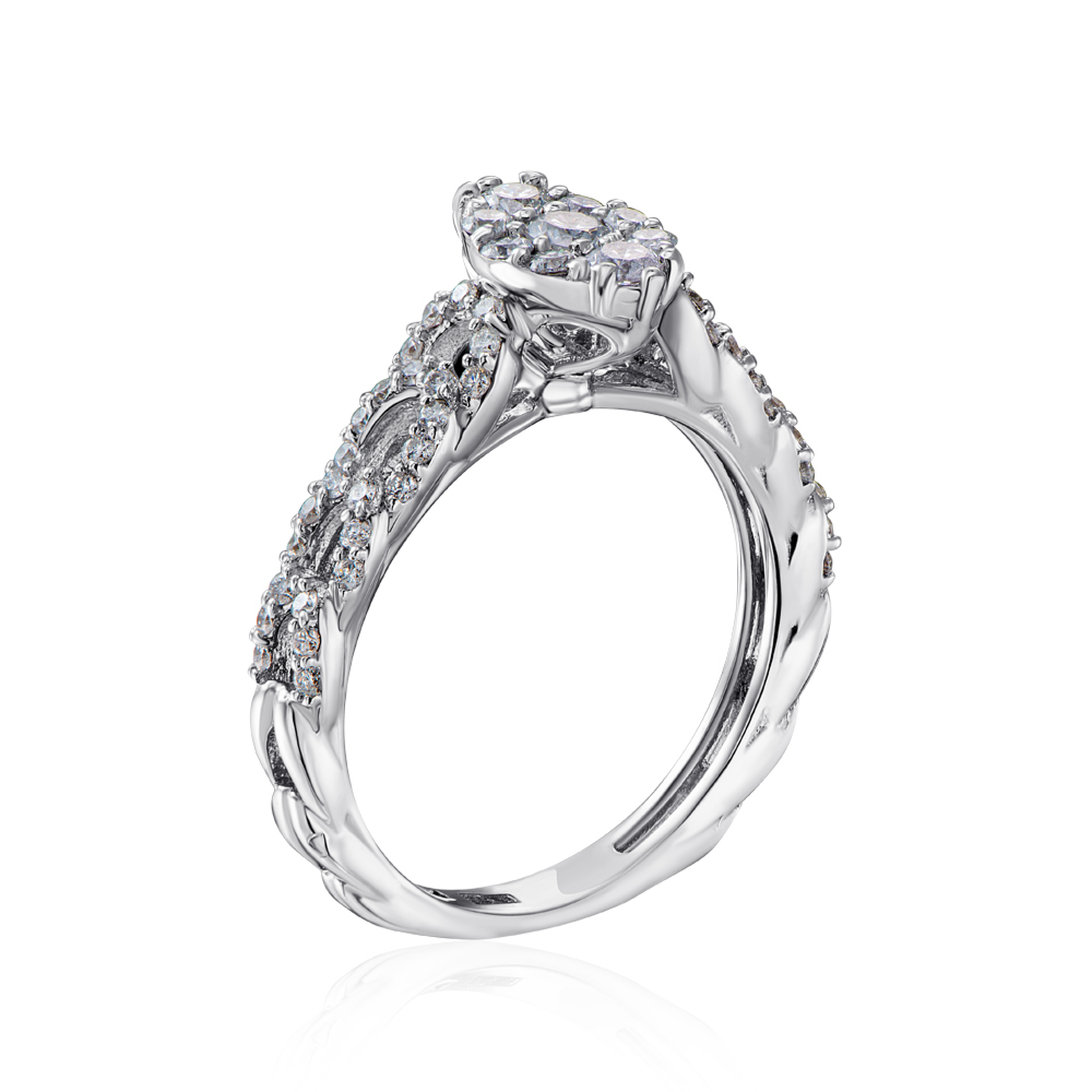 Золота каблучка з діамантами. Артикул R002630